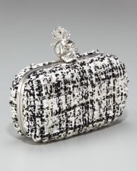 Alexander McQueen | Black Heraldry Skull Tweed Box Clutch | Lyst