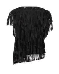 AllSaints | Black Marail Top | Lyst