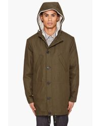 A.P.C. | Green Layered Sheepskin Parka for Men | Lyst