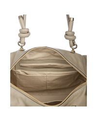 Chloé - Gray Mastic Leather Janet Knotted Handle Tote - Lyst