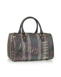 Ferrè Milano | Gray Cristallo - Signature Satchel Bag | Lyst
