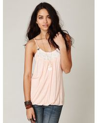 Free People | Natural Sunstreak Bubble Cami | Lyst
