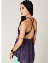 Free People | Purple Fp New Romantics Cut Out Halter | Lyst