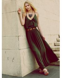 Free People | Green Complete Pleats Maxi Dress | Lyst