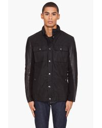 John Varvatos | Black Hooded Jacket for Men | Lyst