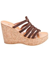 K. Jacques | Brown Drosera Caged Wedge in Chocolate | Lyst