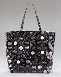kate spade new york | Brown Bon Shopper, Chocolate-print | Lyst