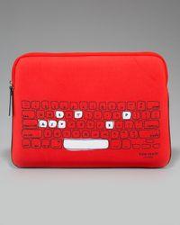 kate spade new york - Red Printed Neoprene Laptop Sleeve, 15 - Lyst