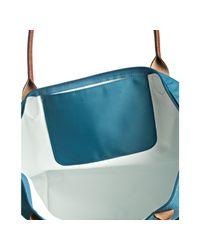 Longchamp | Blue Paon Nylon Le Pliage Large Folding Shopper Tote | Lyst