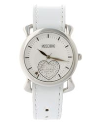 Moschino | Black Watch With Dual Leather And Silk Straps | Lyst