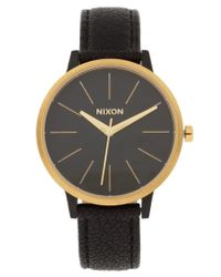 Nixon | Black Kensington Leather Watch | Lyst