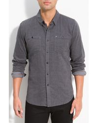 Obey | Gray Merrick Woven Cotton Shirt for Men | Lyst