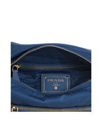 Prada - Blue Cobalt Nylon Buckle Messenger Bag - Lyst