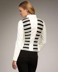 Royal Underground | White Leather Zip Jacket | Lyst