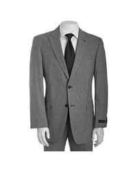 Tommy Hilfiger - Gray Black Houndstooth Plaid Wool Nathan 2-button Trim Fit Suit with Flat Front Pants for Men - Lyst