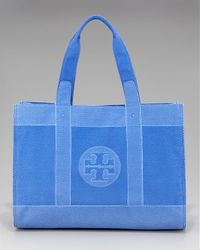 Tory Burch - Red Trompe Loeil Canvas Tory Tote - Lyst