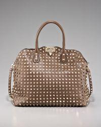 Valentino | Brown Rockstud Dome Shoulder Bag | Lyst