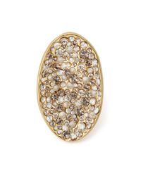 Alexis Bittar | Metallic Concave Crystal Ring | Lyst