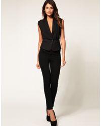 ASOS Collection | Black Asos Sheer Sexy Waistcoat | Lyst