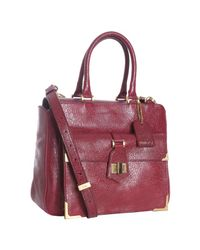 Fendi | Purple Bordeaux Dimpled Leather Classic No. 3 Top Handle Bag | Lyst
