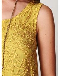 Free People | Yellow Funny Face Top | Lyst