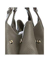 Gucci - Gray Grey Leather Greenwich Medium Shoulder Bag - Lyst