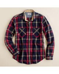 J.Crew | Blue Wallace & Barnes Heavyweight Flannel Shirt in Lynde Point Plaid for Men | Lyst