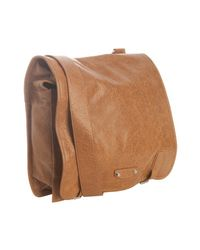 Balenciaga - Light Brown Lambskin Utility Messenger Bag for Men - Lyst