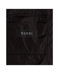 Gucci - Black Nylon Snap Front Hooded Windbreaker Jacket for Men - Lyst