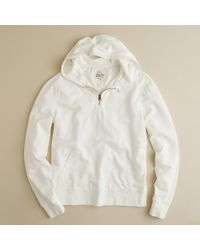 J.Crew | White Half-zip Hoodie for Men | Lyst