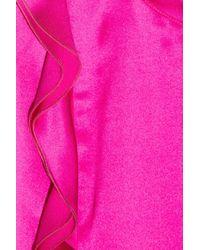 Valentino Roma - Purple Silk-blend Top - Lyst