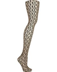 Wolford | Black Crazy Maze Printed Tights | Lyst