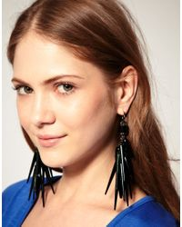 ASOS Collection - Blue Asos Spike and Beetle Shell Drop Earrings - Lyst