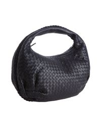 Bottega Veneta | Blue Tourmaline Intrecciato Leather Belly Veneta Hobo | Lyst