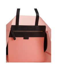 Céline | Pink Rubber and Leather Shopping Tote | Lyst