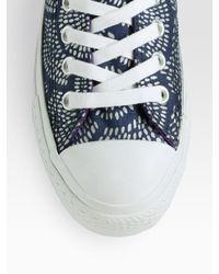 Converse - Blue Marimekko Chuck Taylor Printed Sneakers - Lyst