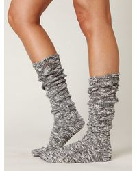 Free People | Gray Heather Marl Slouch Sock | Lyst