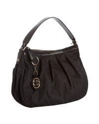 Gucci | Black Gg Canvas and Leather Sukey Hobo | Lyst