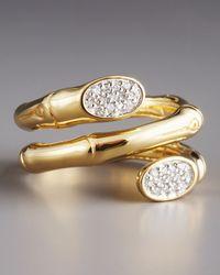 John Hardy - Metallic Pave Diamond Coil Ring - Lyst