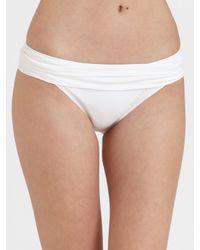 La Blanca - White Ruched Bikini Top - Lyst