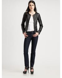 Lafayette 148 New York | Black Quilted Lambskin Jacket | Lyst