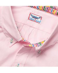 Limoland | Pink Button Down Collar Cotton Shirt for Men | Lyst