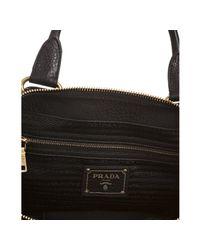 Prada - Black Calfskin Convertible Tote - Lyst