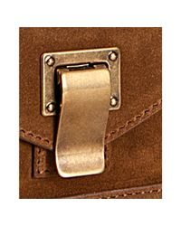 Proenza Schouler - Brown Large Suede Ps1 Keep All - Lyst