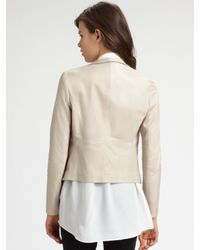 Theory - Pink Kanya Draped Leather Jacket - Lyst