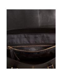 Tod's - Black Leather Fleur Shoulder Bag - Lyst