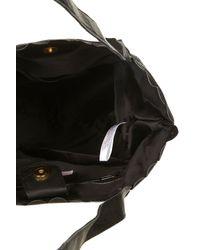 TOPSHOP - Black Leather Shopper Bag - Lyst