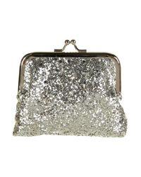 TOPSHOP | Metallic Silver Glitter Clasp Purse | Lyst