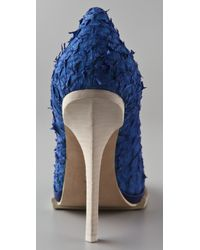 Alexander Wang - Blue Aida Fish Scale Platform Pumps - Lyst