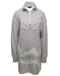 Alexander Wang | Gray Quilted Needlepoint Dress | Lyst